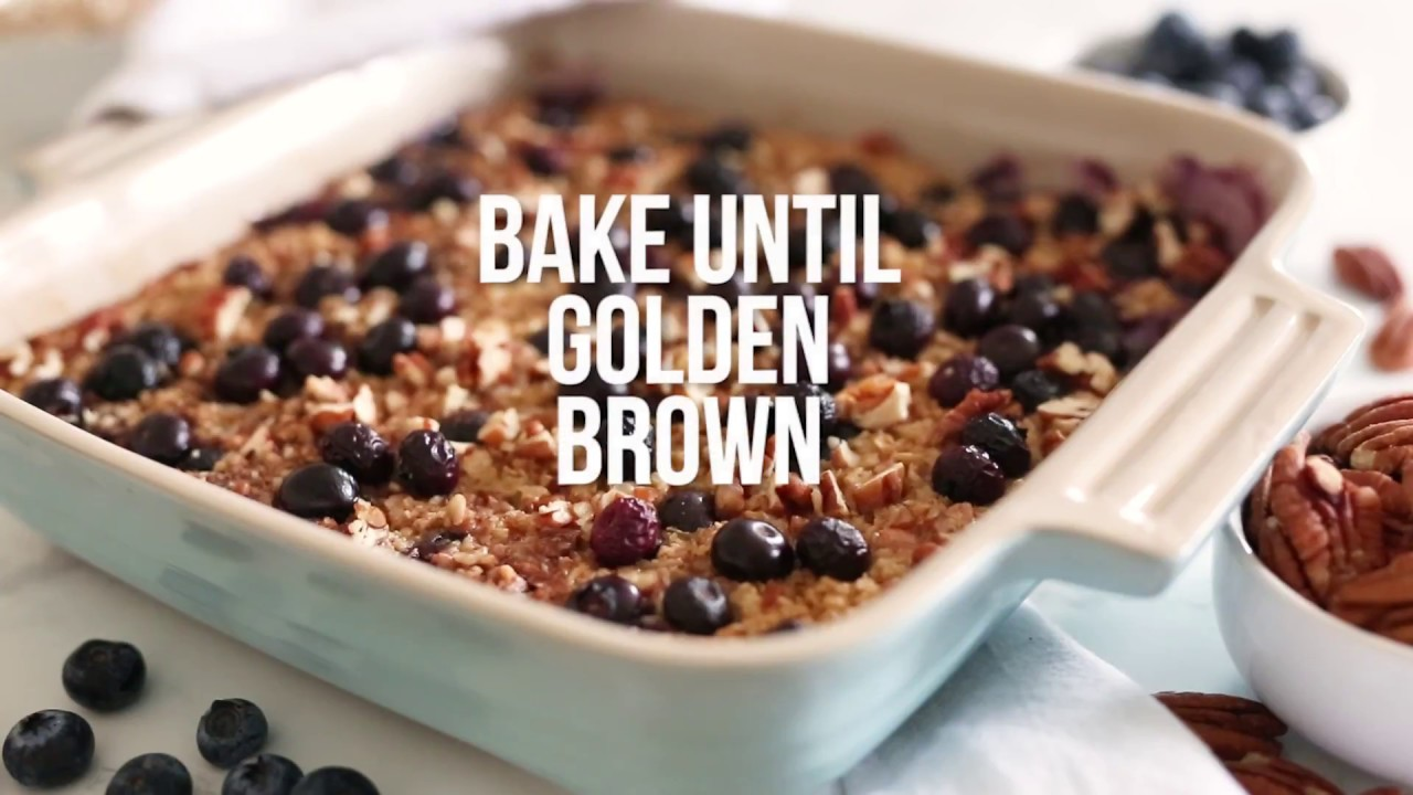 baked oatmeal with blueberries and bananas rh skinnytaste com