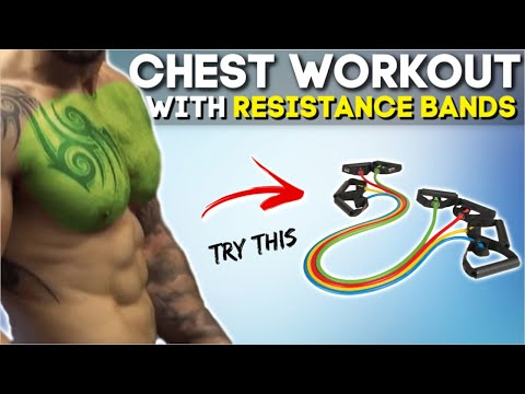 Chest Workout At Home With Resistance Band