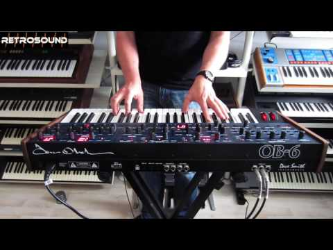Dave Smith / Tom Oberheim OB-6 Analog Synthesizer (2016) sound demo