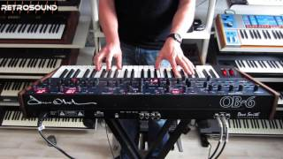 Dave Smith / Tom Oberheim OB-6 Analog Synthesizer (2016) sound demo