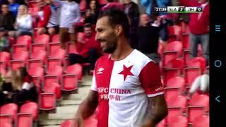 Slavia Praha- Jihlava 2:0 ,11.8.2017 gól Danny