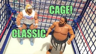 wwe action insider classic steel cage playset target exclusive wrestling figure ring review