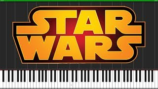 Star Wars Main Theme [Piano Tutorial] (Synthesia) // Popular Piano Improv