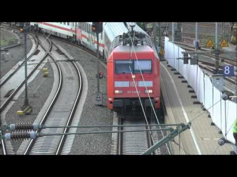 DB Class 101 DB Electric Locomotive No 101 038 8 approaching Hamburg with an IC service