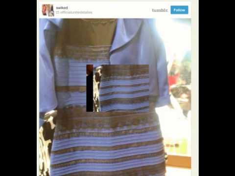 Какого цвета платье вы видите?