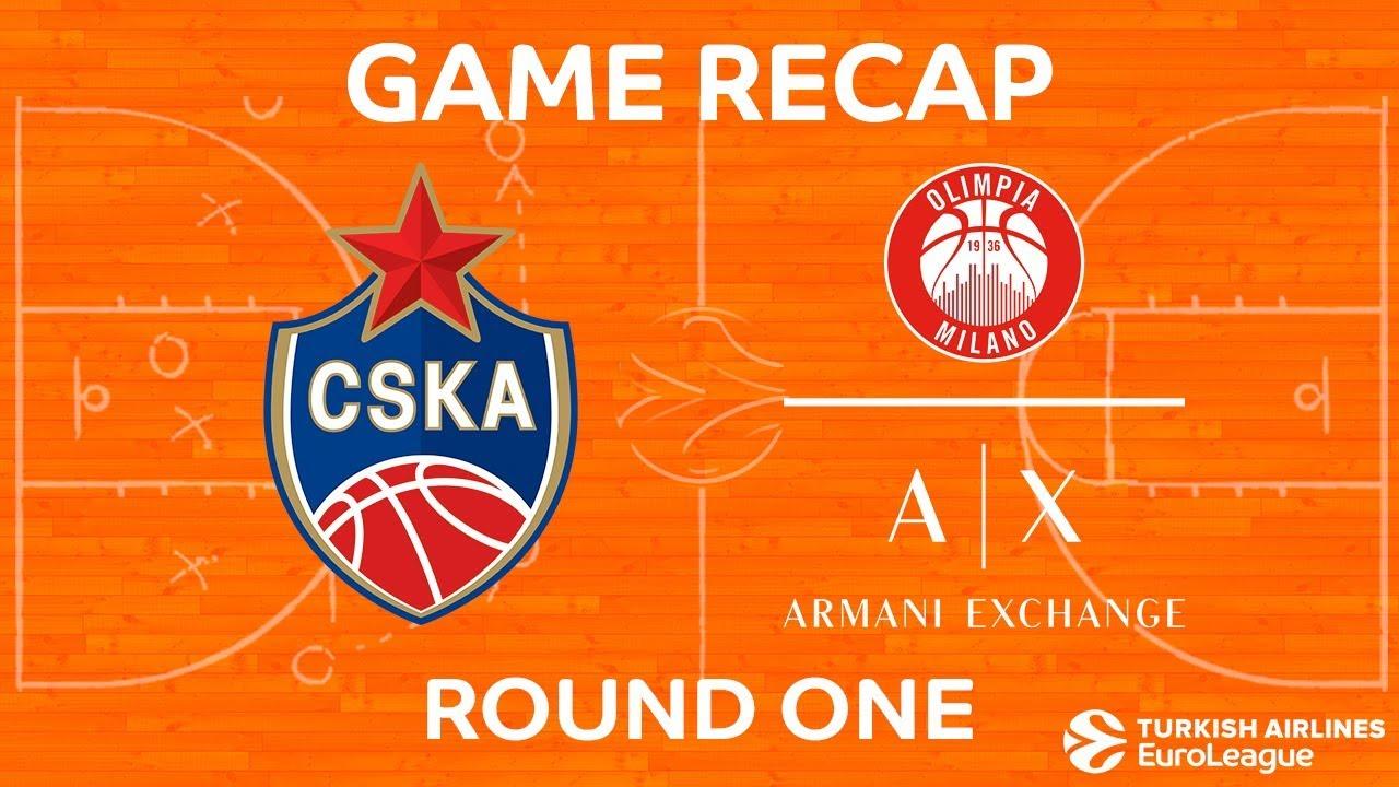 ÖZET | CSKA Moskova - AX Armani Exchange Olimpia Milan Videosu