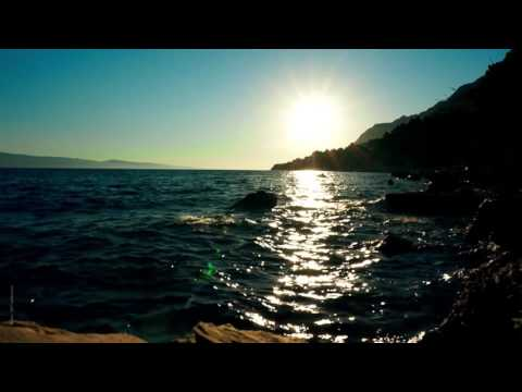 One hour  Sunset over the ocean of Croatia