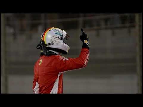 Sebastian Vettel's full celebration on team radio +Update on mechanic   Bahrain GP 2018
