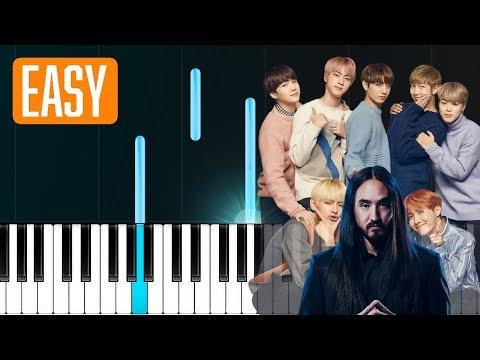 Steve Aoki - Waste It On Me Feat. BTS 100% EASY PIANO TUTORIAL