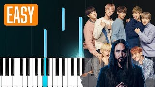 Steve Aoki - Waste It On Me feat. BTS 100% EASY PIANO TUTORIAL