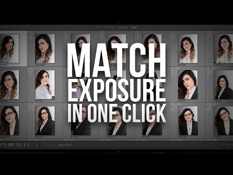 Match Exposure of Multiple Images with One Click in Lightroom #AskPiX