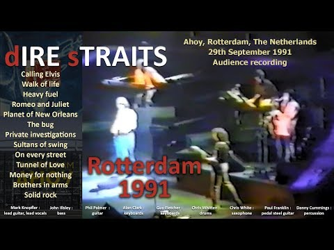 [50 fps] Dire Straits LIVE in Rotterdam 1991-SEP-29 [low quality]