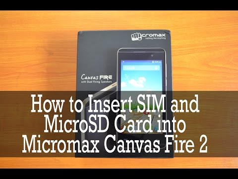 How to insert sim card in Micromax Canvas Infinity