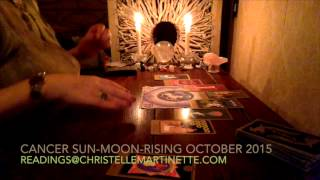 CANCER sun-moon-rising OCTOBER 2015 reading
