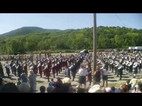 Capital District Scottish Games MASSED BANDS 2015