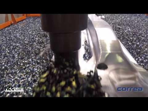 Forging Mould Machining - NCG CAM software on a Correa Fox