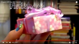 Origami Tutorial: How to Make a Mini Paper Gift Box