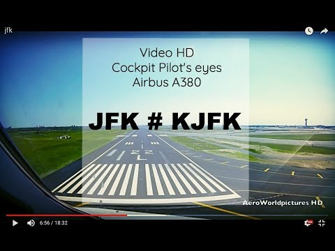 Cockpit | Landing ✈ NEW-YORK ( JFK / KJFK ) NY USA ✈ A380 - RWY22L [HD]