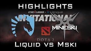 Liquid vs Mineski Starladder 2017 Minor Highlights Dota 2