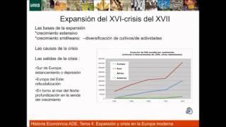 Historia Economica Tema 4 Expansion y crisis en la Europa moderna