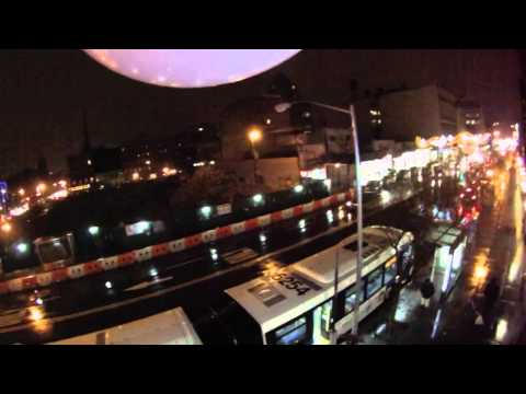View from 25 party balloons above Harlem