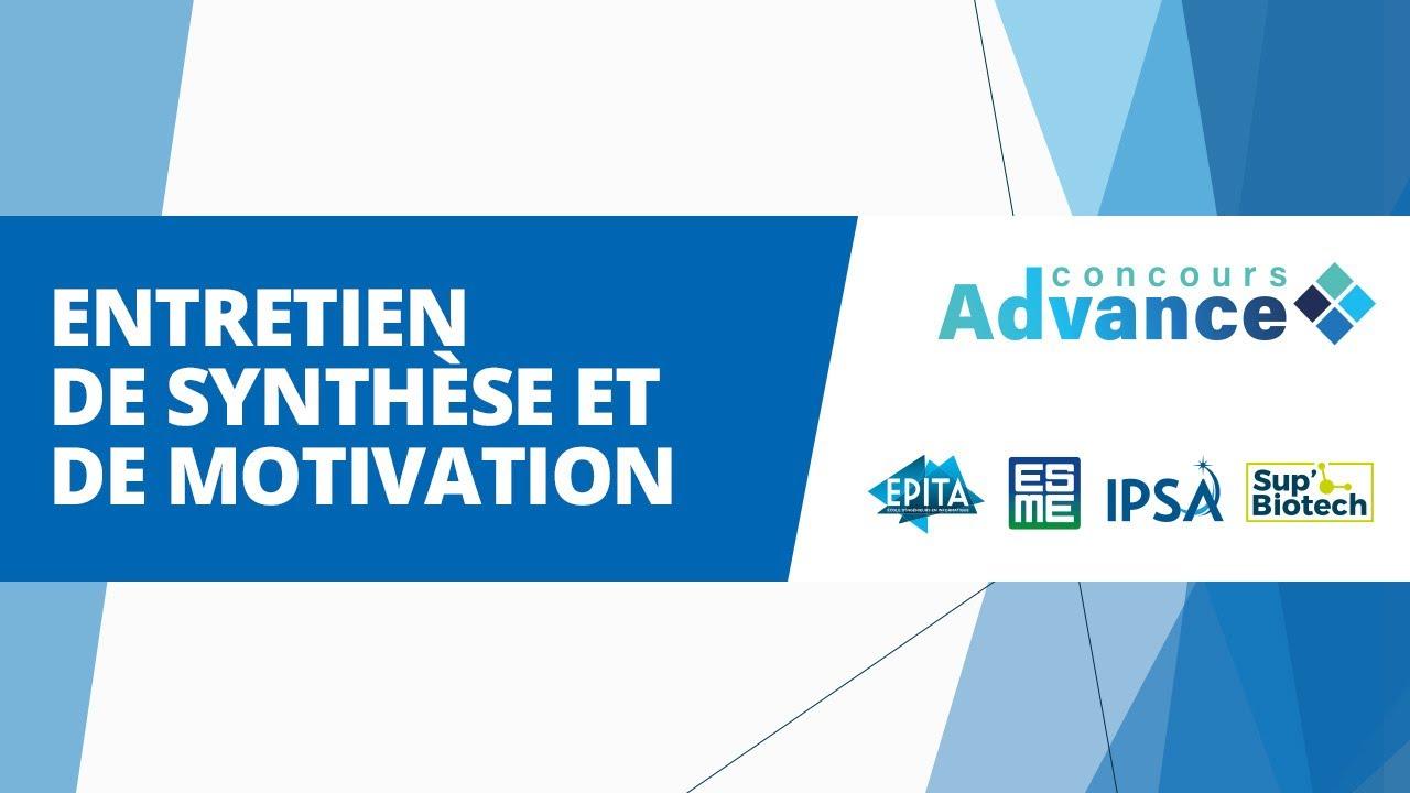 Download Concours Advance - Entretien de synthèse et de motivation