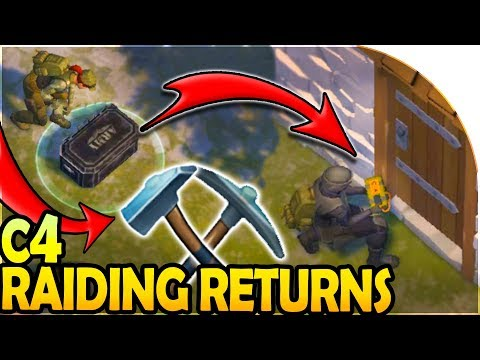 C4 RAIDING RETURNS! - TIER 3 STEEL TOOLS for STONE WALLS - Last Day On Earth Survival Update 1.8.7