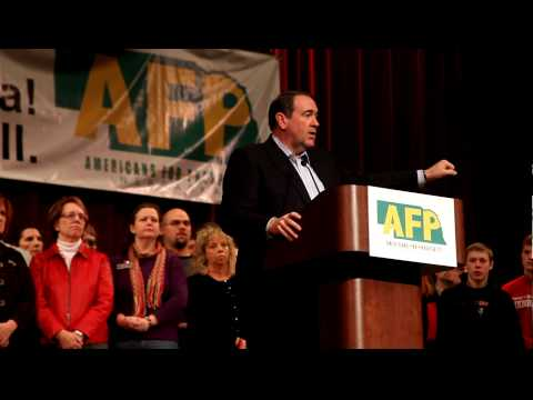 Mike Huckabee Refers To Flushing Congress At Nebraska Event