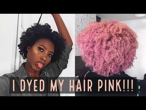 WATCH ME COLOR MY NATURAL (4C) HAIR PINK!!!