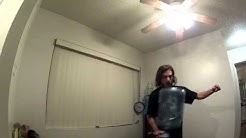 most 360-degree spins in one minute while balancing a five gallon jug on one finger