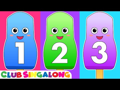 Ice Cream 123s  Counting Song, 123 Nursery Rhyme, Toddler Sing Along, Kindergarten Numbers