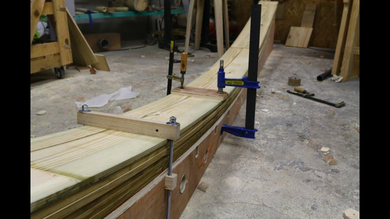 travail du bois construction dune poutre en lamell coll youtube - Charpente Lamelle Colle Maison