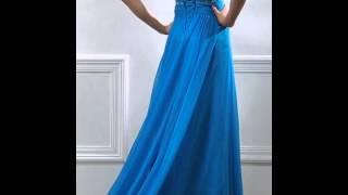 Dresswe Charming Beading Deep V-Neck A-Line Floor Length Lace-Up Evening Dress