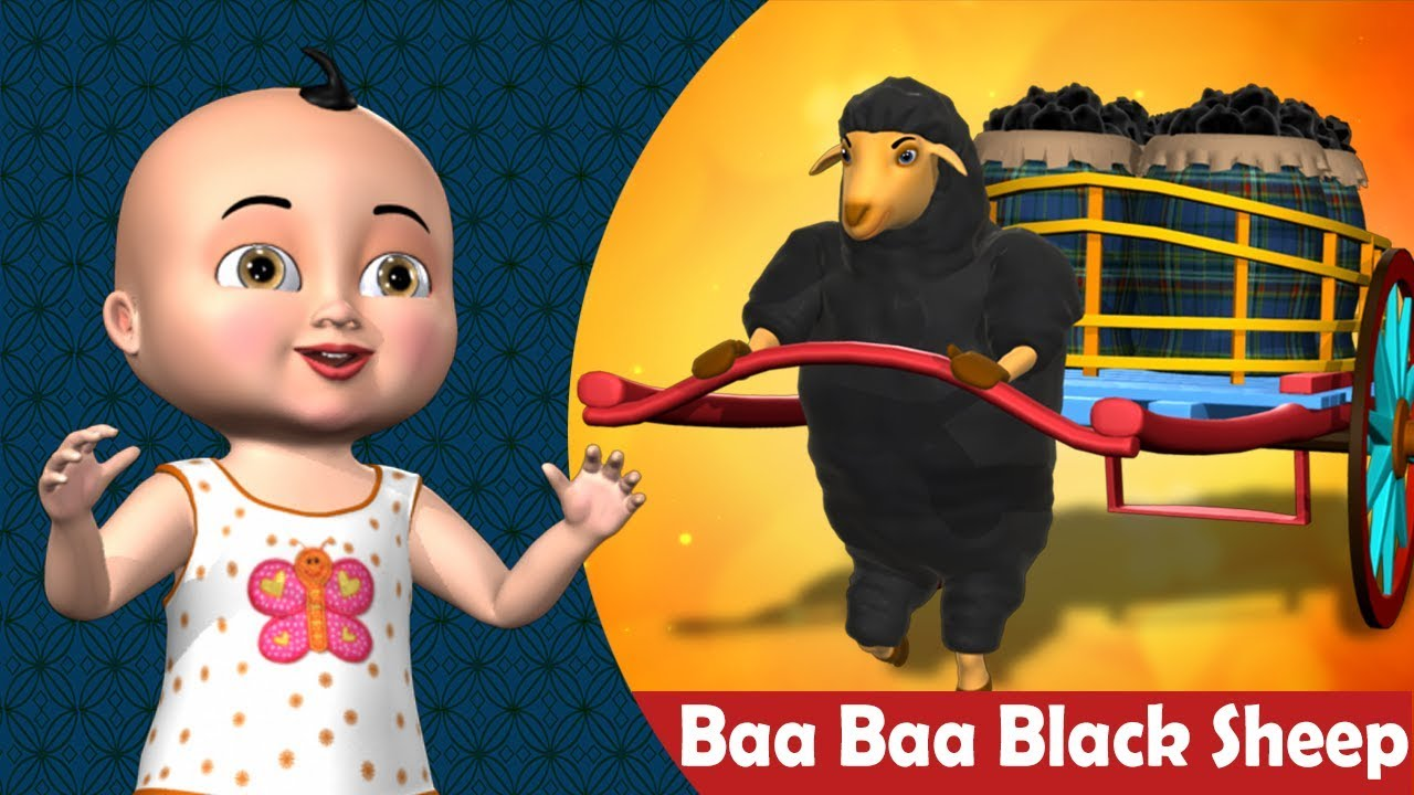 Baa Baa Black Sheep Nursery Rhyme  -  3D Animation Rhymes & Songs for Children