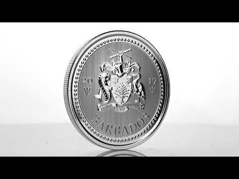 2017 Barbados Trident (Scottsdale Mint) silver bullion coin