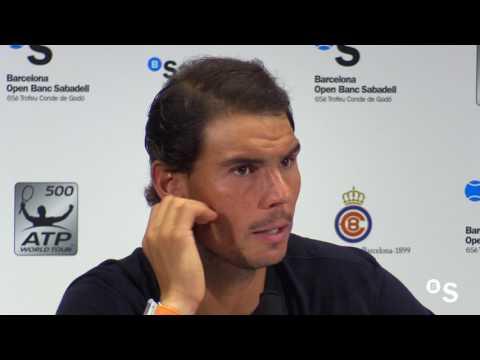 """Rafa Nadal: """"Ha sido un día único para mi"""" Barcelona Open Banc Sabadell"""