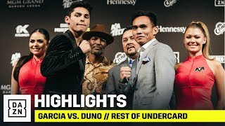 HIGHLIGHTS | Ryan Garcia vs. Romero Duno // Rest Of Undercard: Final Press Conference