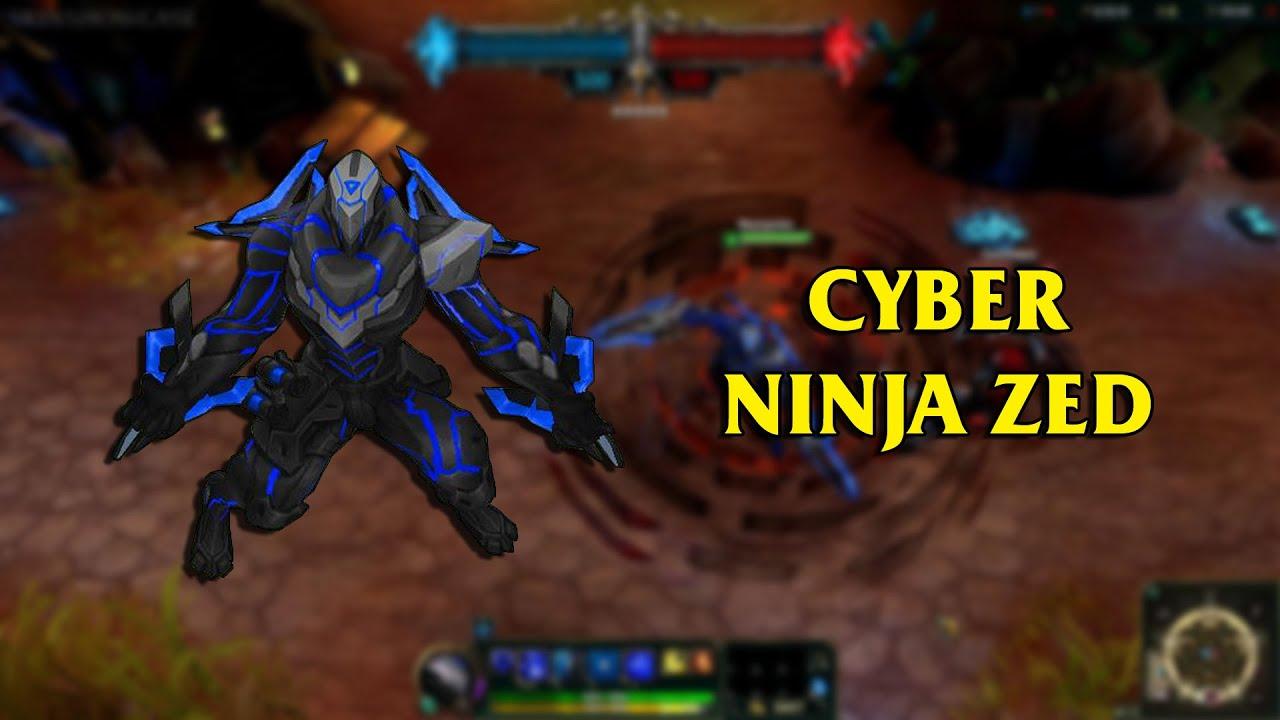 Cyber Ninja Zed LoL Custom Skin ShowCase - YouTube  Cyber Ninja Zed...