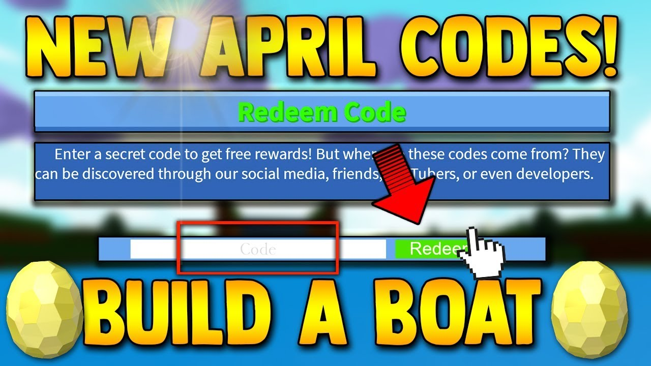 4 WORKING *NEW* CODES! (April 2019) | Build a boat For Treasure ROBLOX