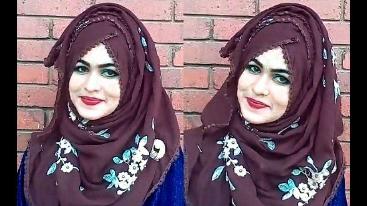Four Layered Hijab Style With Back