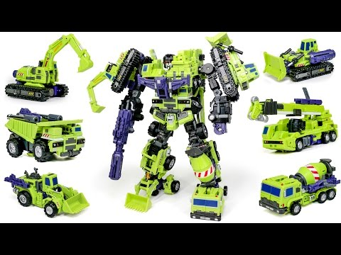 Transformers Construction Devastator MakeToys Giant Type 61 Vehicle Combine Robot Car Toys