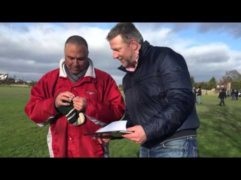 Football legend Dale Banton does draw for TLG Football Tournament 2016 with Ian Leigh