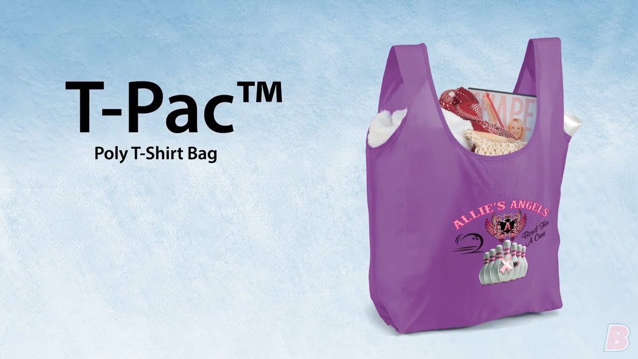 T Pac 190d Folding Bag Custom Printed Totes By Promotions Now