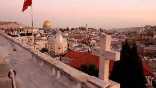 Evening call to prayer in Old City Jerusalem