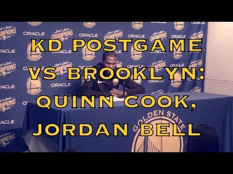 "Entire KEVIN DURANT postgame: Quinn Cook ""doesn't feel entitled...like he has to play"", Bell/Jones"