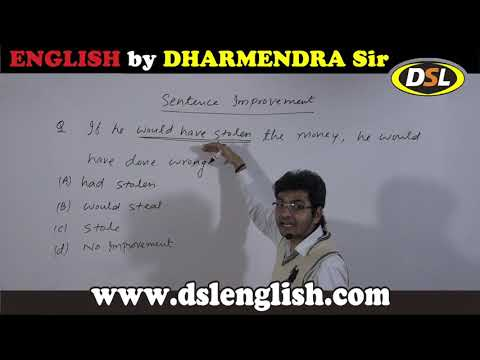 Best Tricks for Sentence Improvement asked in SSC Tier 2 by Dharmendra Sir For SSC CGL/BANK in Hindi