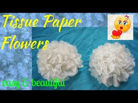 How to make Tissue paper flowers…DIY Tissue paper flowers..
