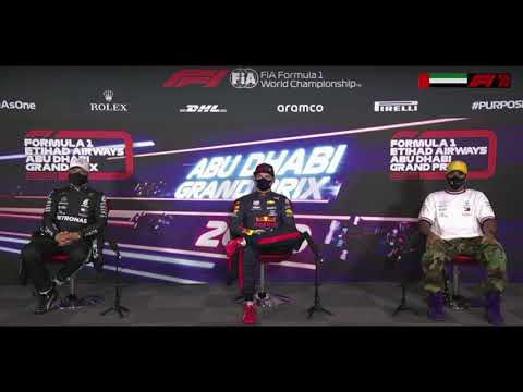 F1 Abu Dhabi   Top 3 Drivers Post Qualification Press Conference