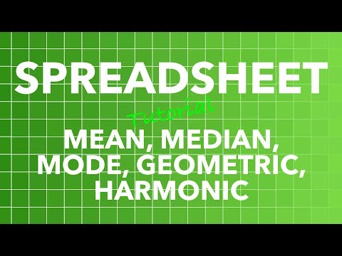 Spreadsheet AVERAGE Functions - Mean, Median, Mode, Geometric, Harmonic