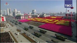 Военный парад в Северной Корее за день до Олимпиады
